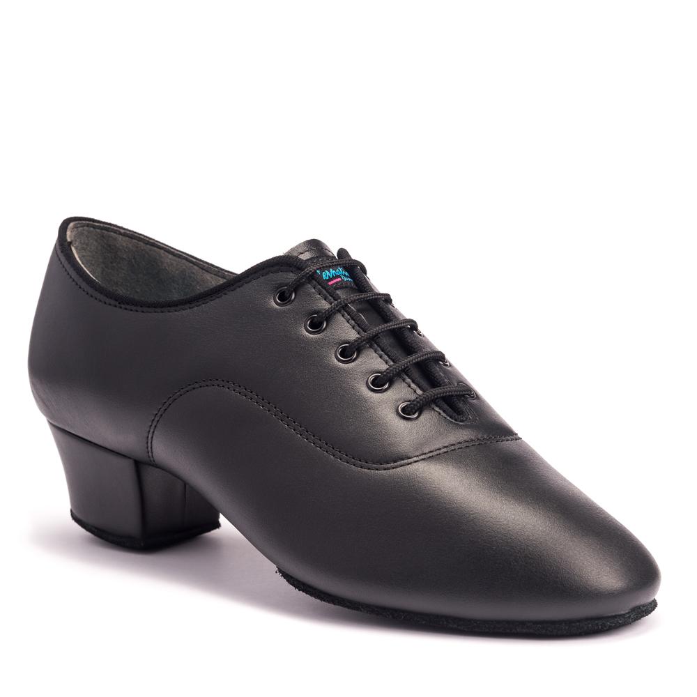 Wide Men/'s Black Leather Dance Shoes 1.5 inch Heel Salsa Ballroom Latin Tango