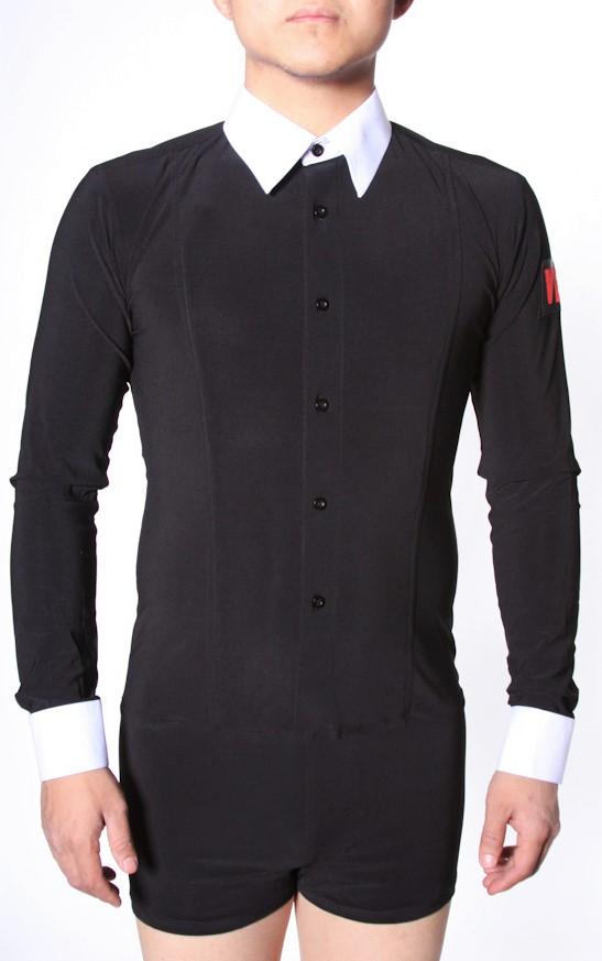 Men S Shirts Vedance Black With White Collar Dance Shirt 145 00