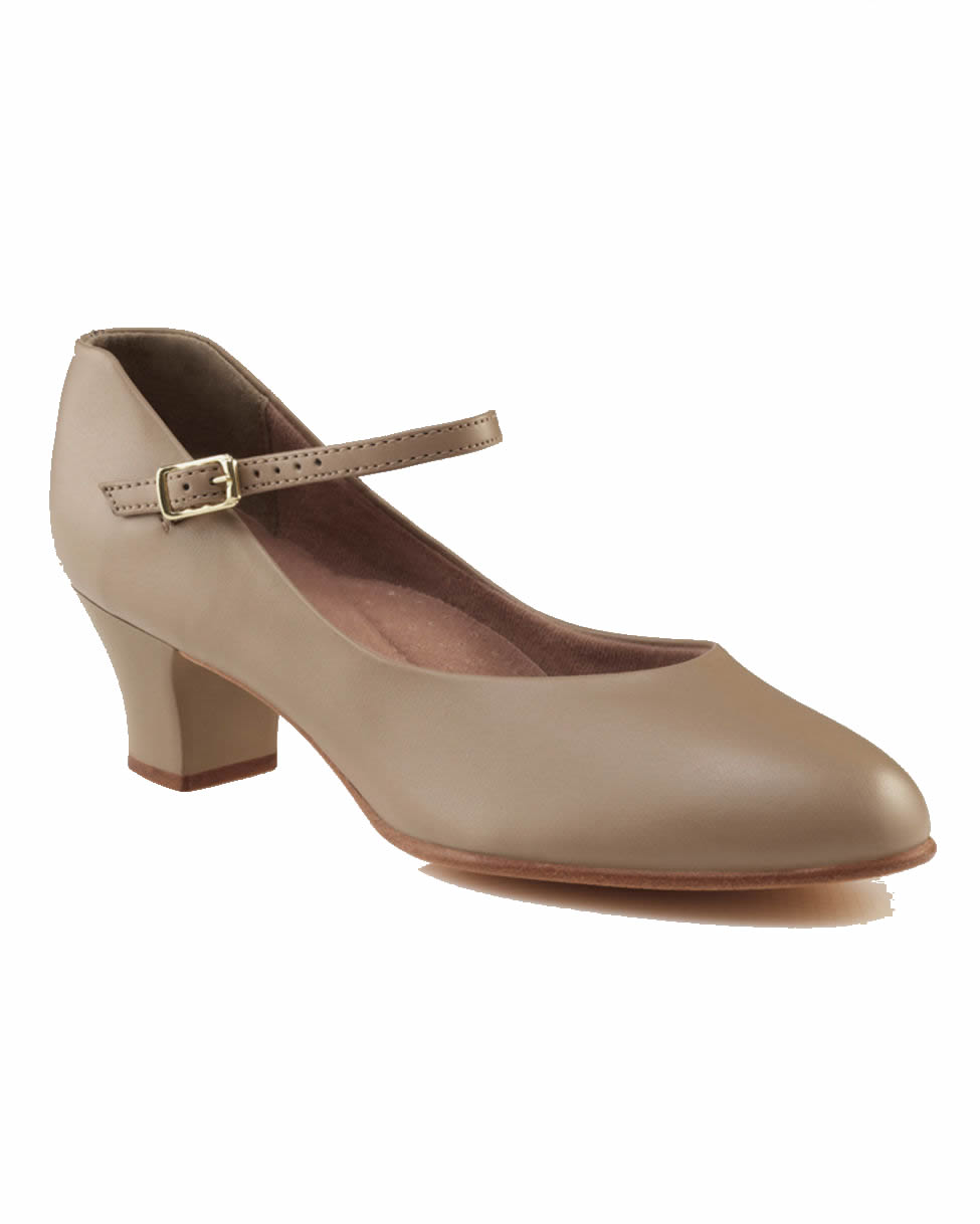 Tan Character Shoes   Inch Heel