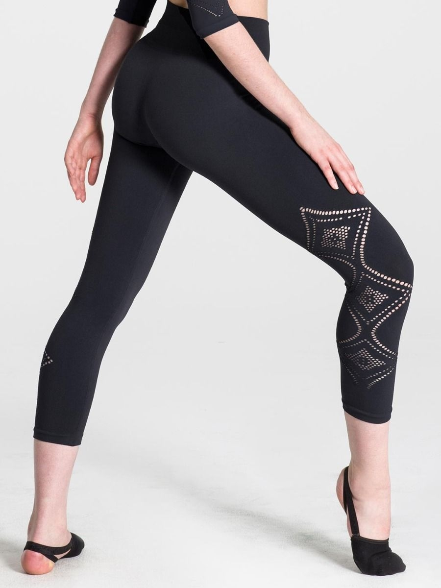 efae5dd1497685 Women's Dance Pants, Capezio, Seamless Deco Cropped Legging 11318W, $49.00,  from VEdance, the very best in ballroom and Latin dance shoes and dancewear.
