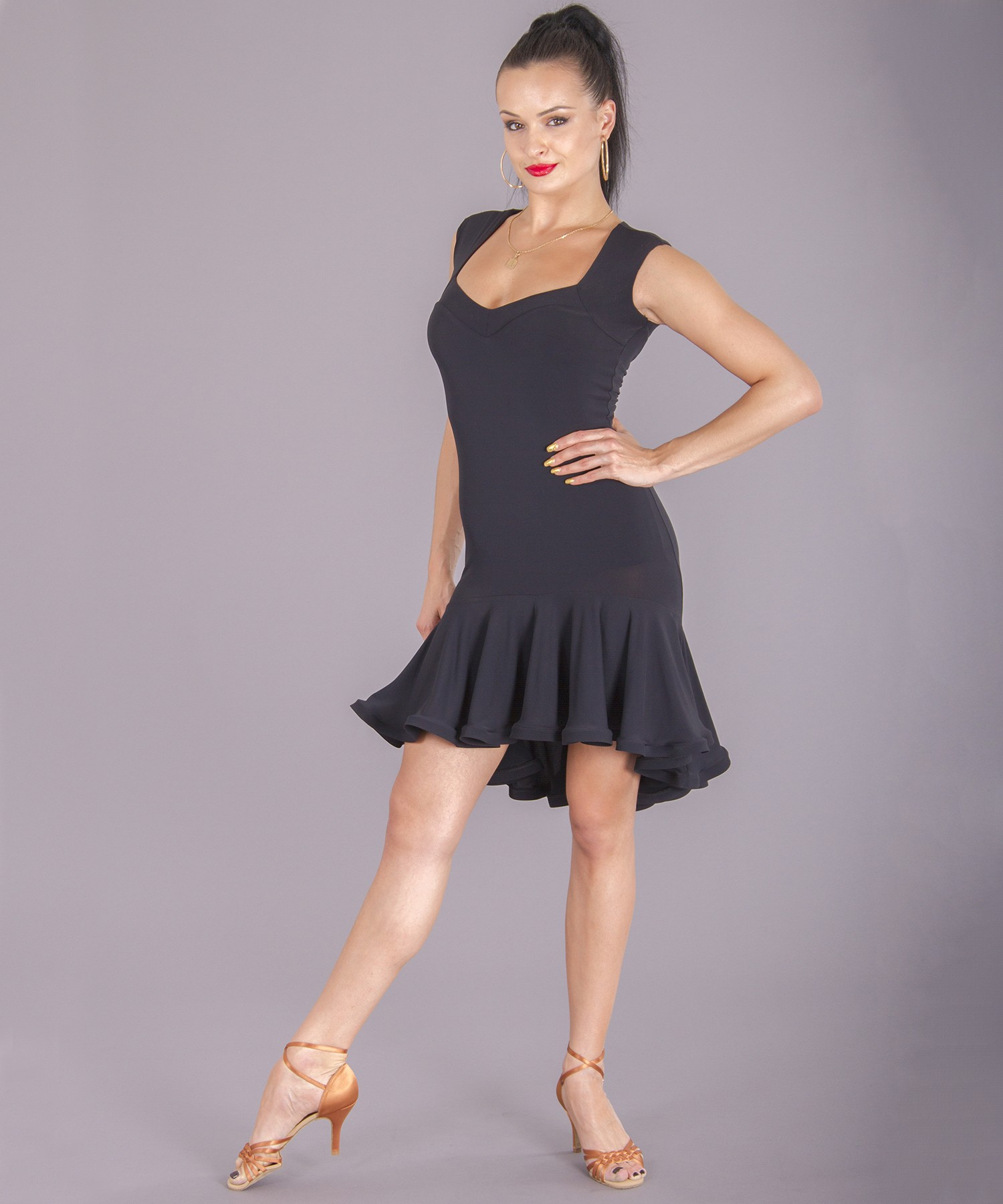 5654950520906 Women's Dresses, DSI London, 3253 Carmelita Crepe Dress, $279.00, from  VEdance, the very best in ballroom and Latin dance shoes and dancewear.