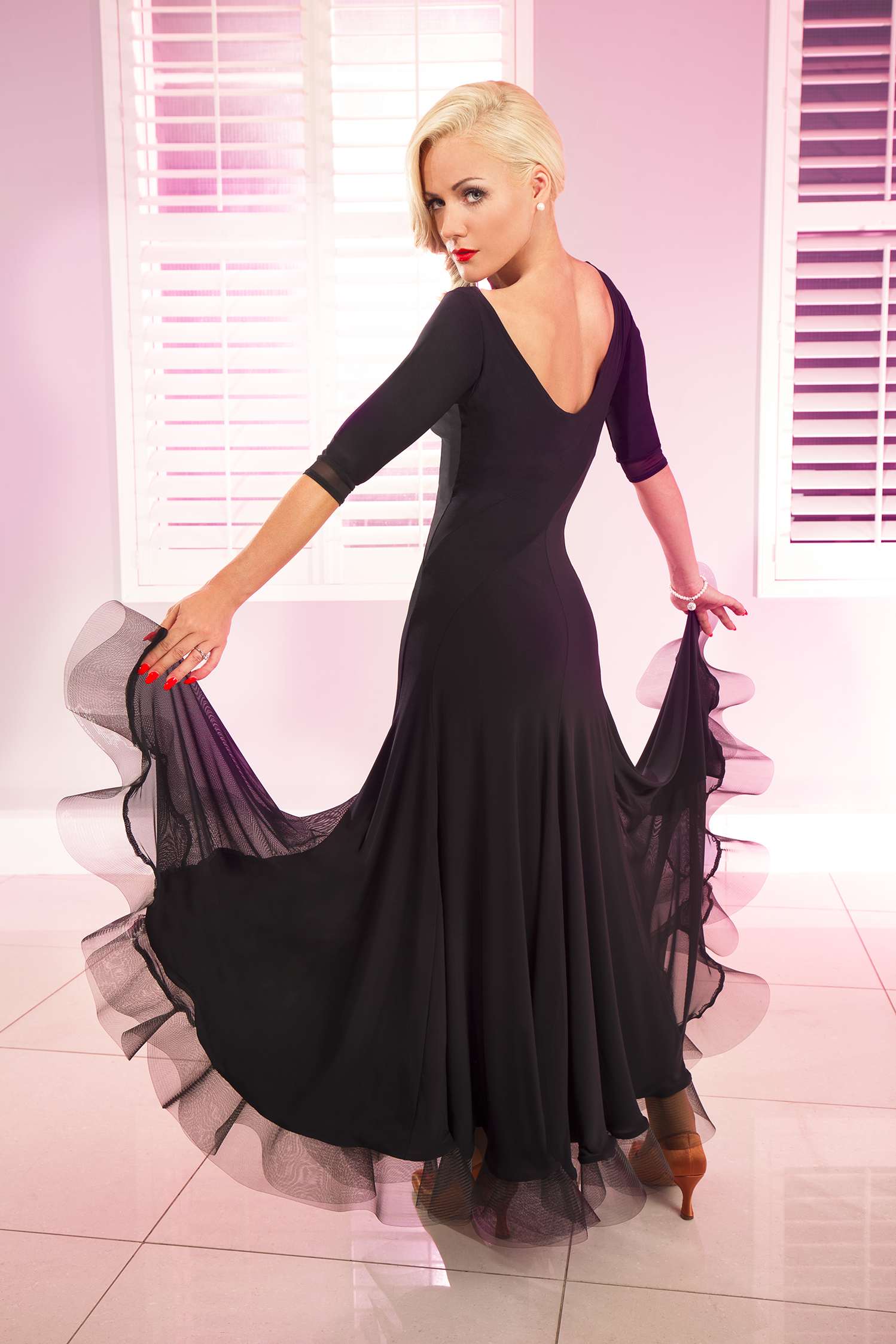 Women S Dresses Chrisanne Tania Pandora Dress Black 275 00 From Vedance The Very Best In Ballroom And Latin Dance Shoes Dancewear