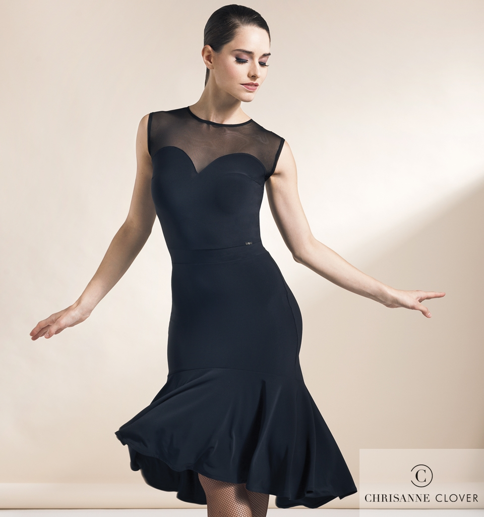 a6367bf2e Women's Dresses, Chrisanne Clover, VERVE LATIN DRESS BLACK, $190.00, from  VEdance, the very best in ballroom and Latin dance shoes and dancewear.