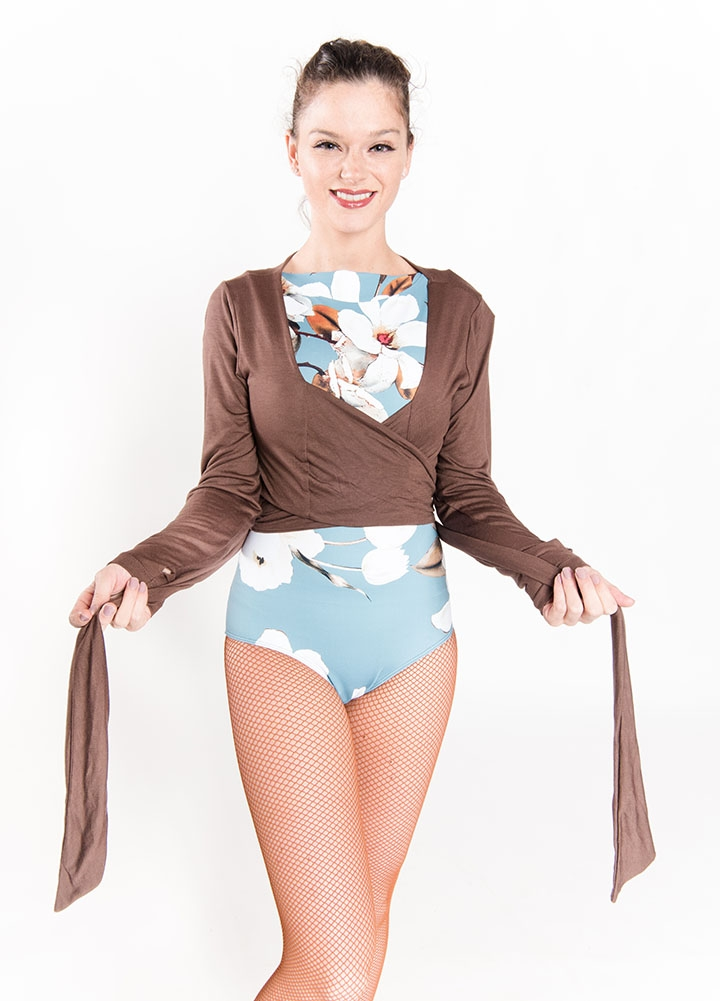 2789b3d8b554d Women's Tops, Ballet Rosa, Mai Bamboo Wrap Top 319VIA, $52.00, from  VEdance, the very best in ballroom and Latin dance shoes and dancewear.